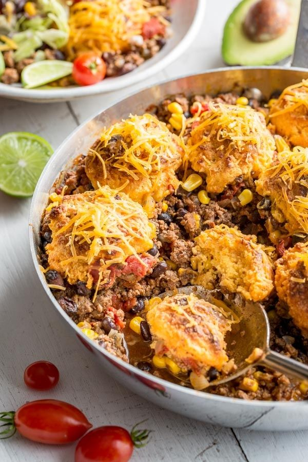 Easy skillet taco cobbler dinner recipe from recipegirl easy skillet taco cobbler dinner recipe from recipegirl forumfinder Image collections