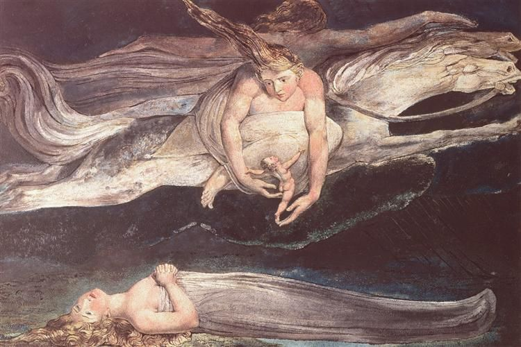 Illustration To Dantes Divine Comedy 1795 By William Blake