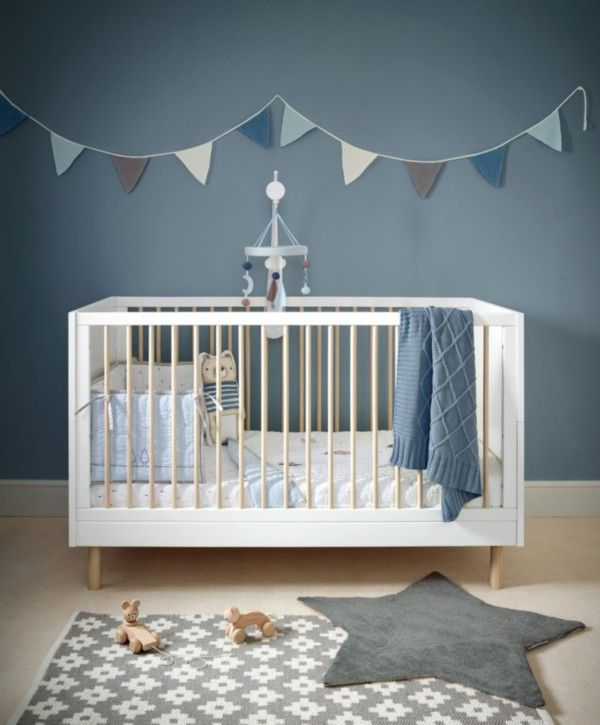 Mamas /& Papas Juno Crib White//Natural Nursery Furniture