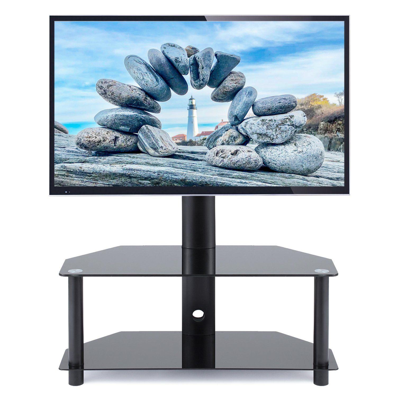 Modern Black Tv Stand Metal Mount For 27 55 Tvs Entertainment Stand Walmart Com In 2021 Flat Screen Tv Stand Black Corner Tv Stand Tv Stand With Swivel Mount 55 tv stand with mount