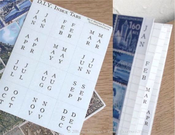 DIY Calendar Tabs - Months of Year Stickers, Make Your Own Birthday