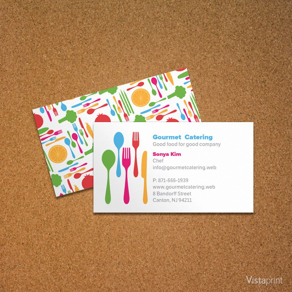 Personal Chef Business Card | Vistaprint | Cooking in Color ...