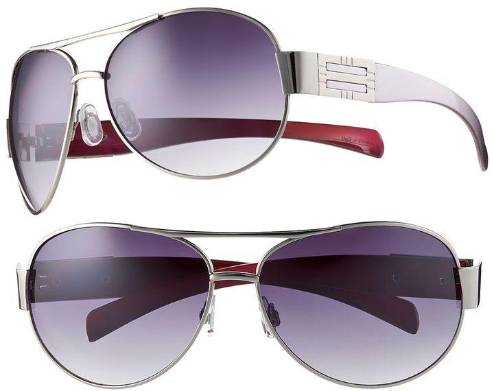 Apt. 9 ® metallic rectangle aviator sunglasses - women