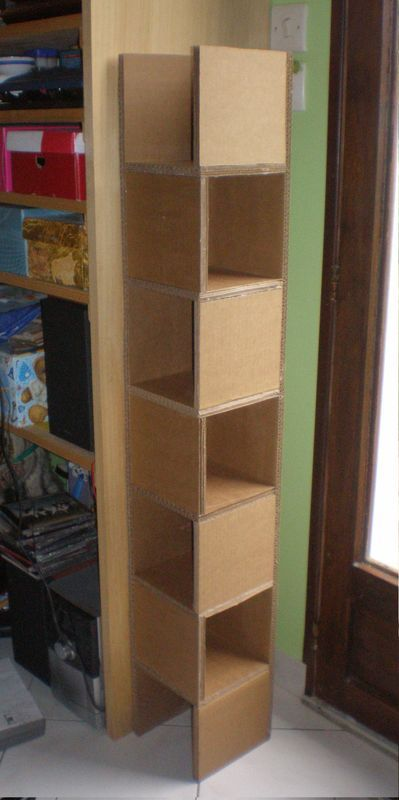 colonne en carton cartonnage pinterest carton meuble en carton et cartonnage. Black Bedroom Furniture Sets. Home Design Ideas