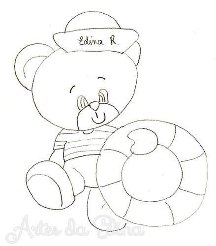 Ursinho Desenho De Urso Riscos Para Pintura Pinturas Em