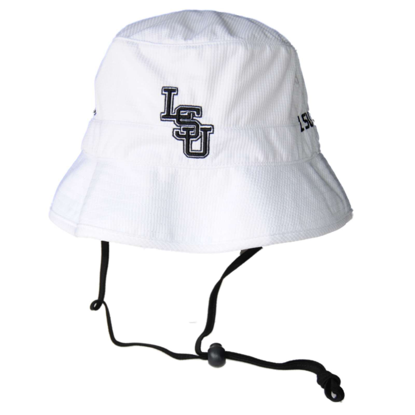 LSU Tigers TOW White Performance Caliber Beach Bucket Hat Cap with ...