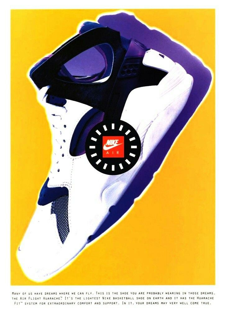 outlet store 953e5 4b50a Huaraches · Vintage Nike, Vintage Ads, Nike Poster, Nike Ad, Nike Air Flight ,