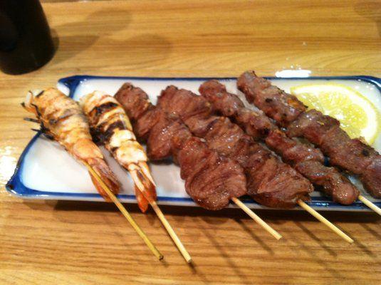 Skewers Shrimp Chicken Heart Gizzard Yummy Food Pinterest