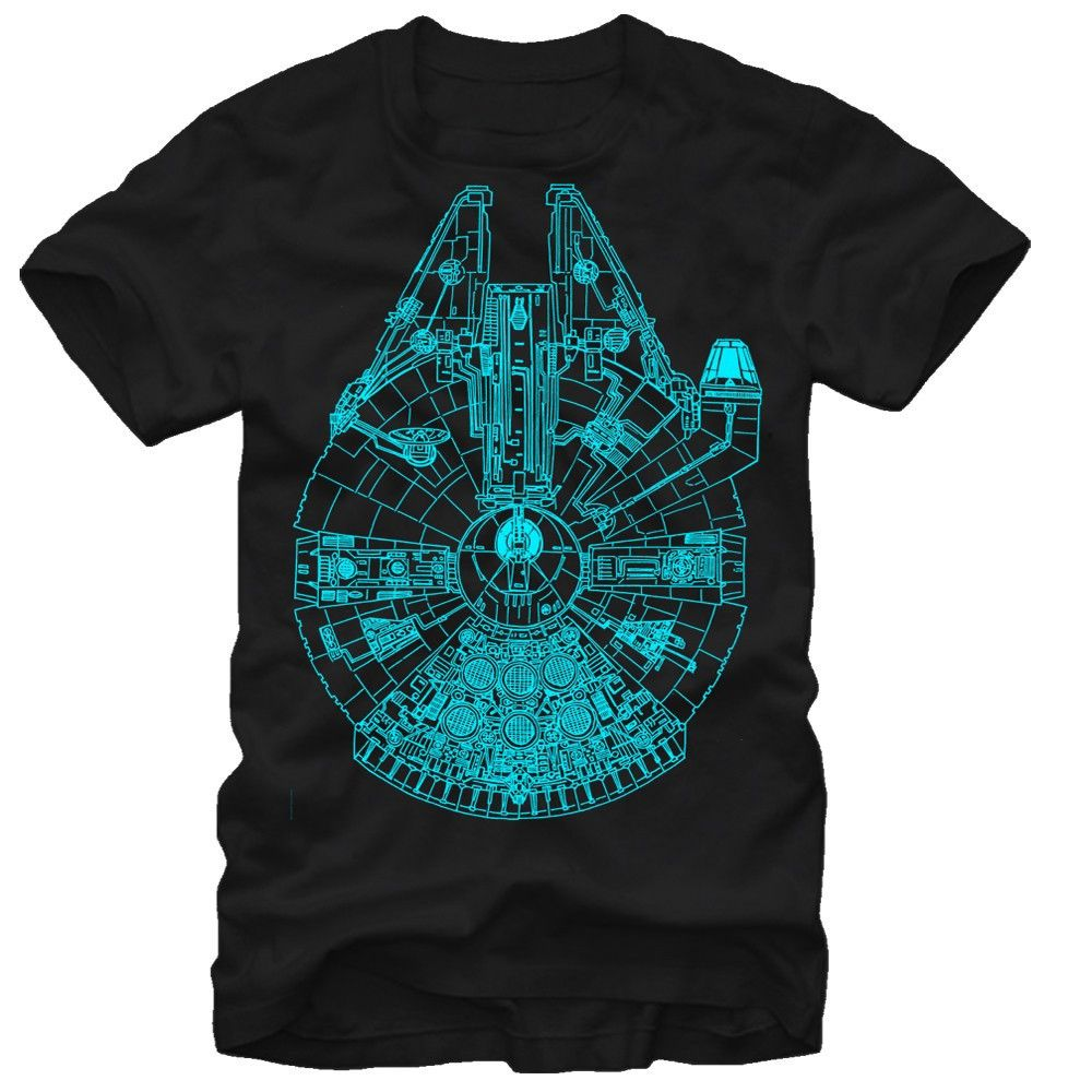 The Star wars gift for him.  Millennium falcon glow in the dark T-shirt