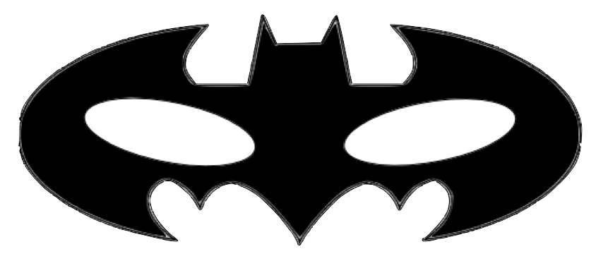 Gratifying image inside batman mask printable