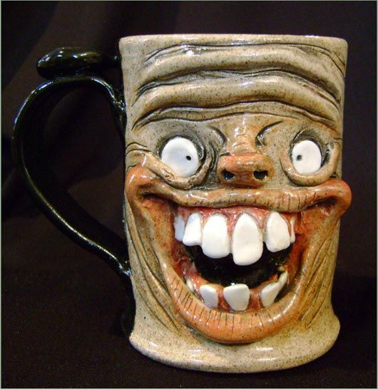 Really happy mug scary and unique coffee mugs for Cool coffee designs
