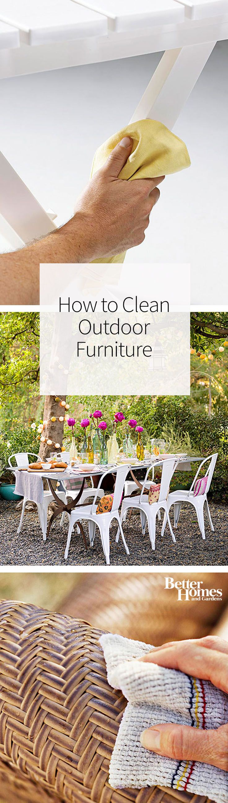 How to Clean Outdoor Furniture | Clean wood, Metals and Woods