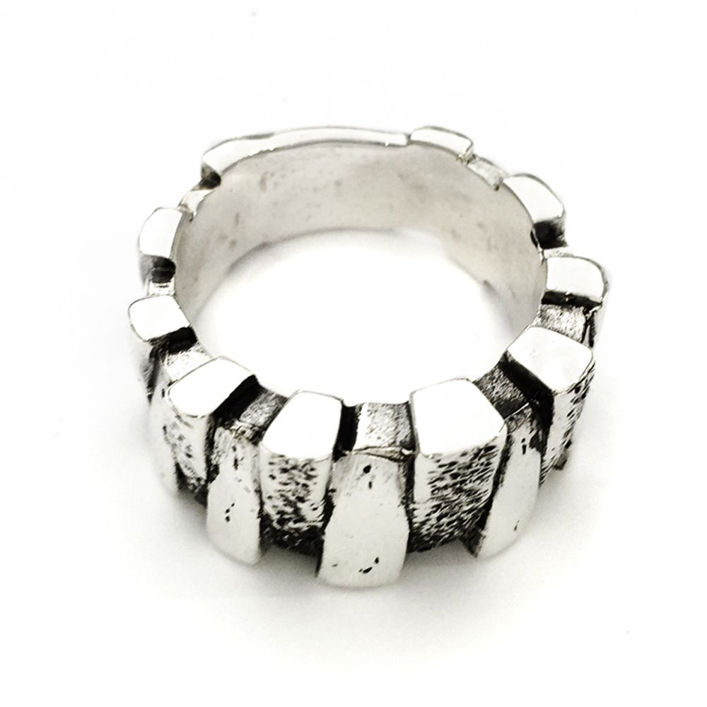Distressed solid sterling silver menus ring men rings ring