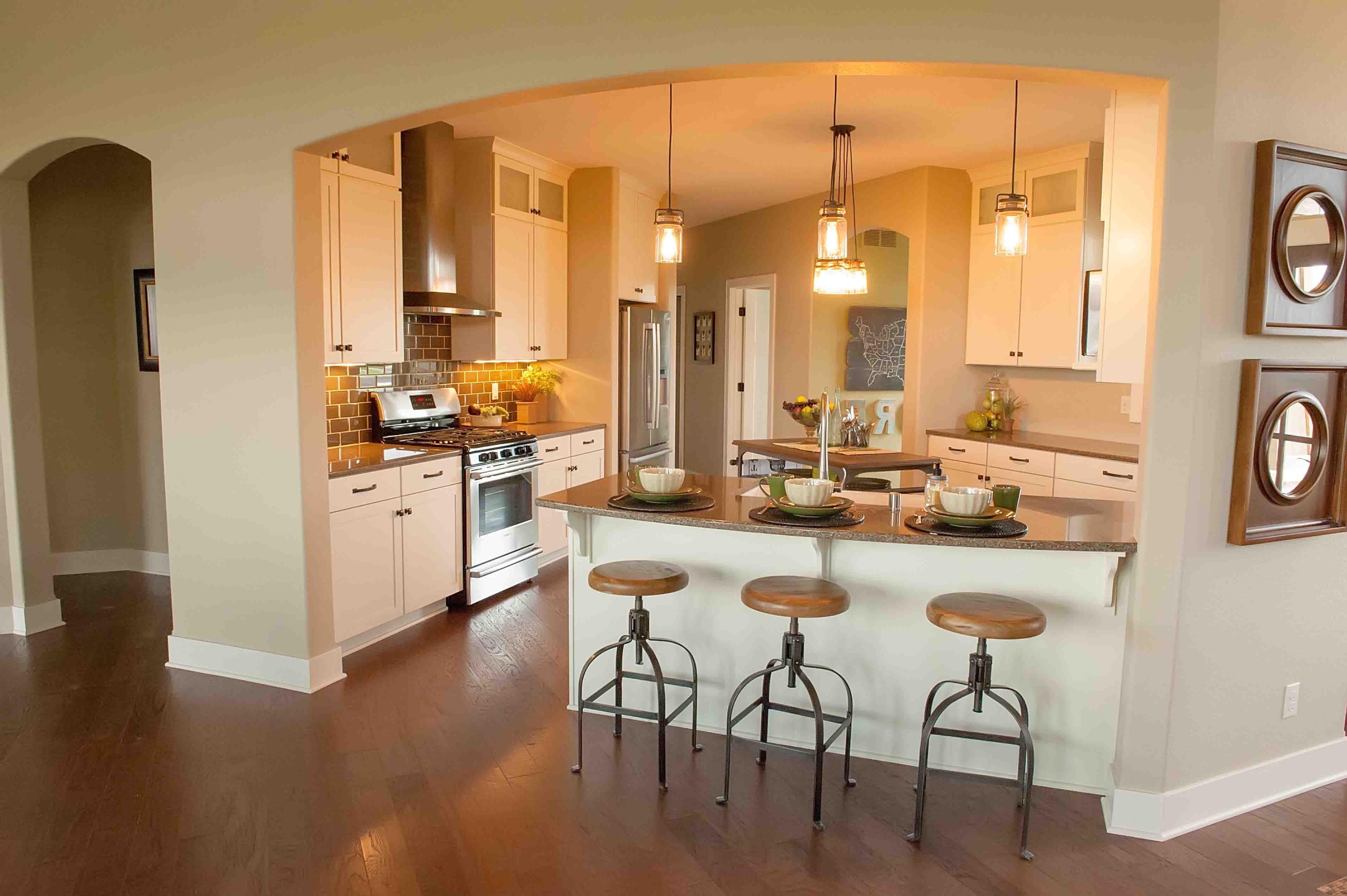 upper sticking out Peninsula kitchen design