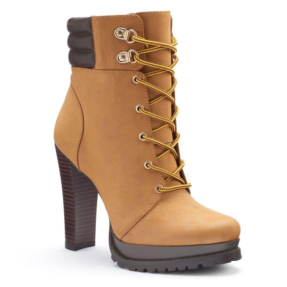 Jennifer Lopez Women's Platform High Heel Ankle Boots | Kohls