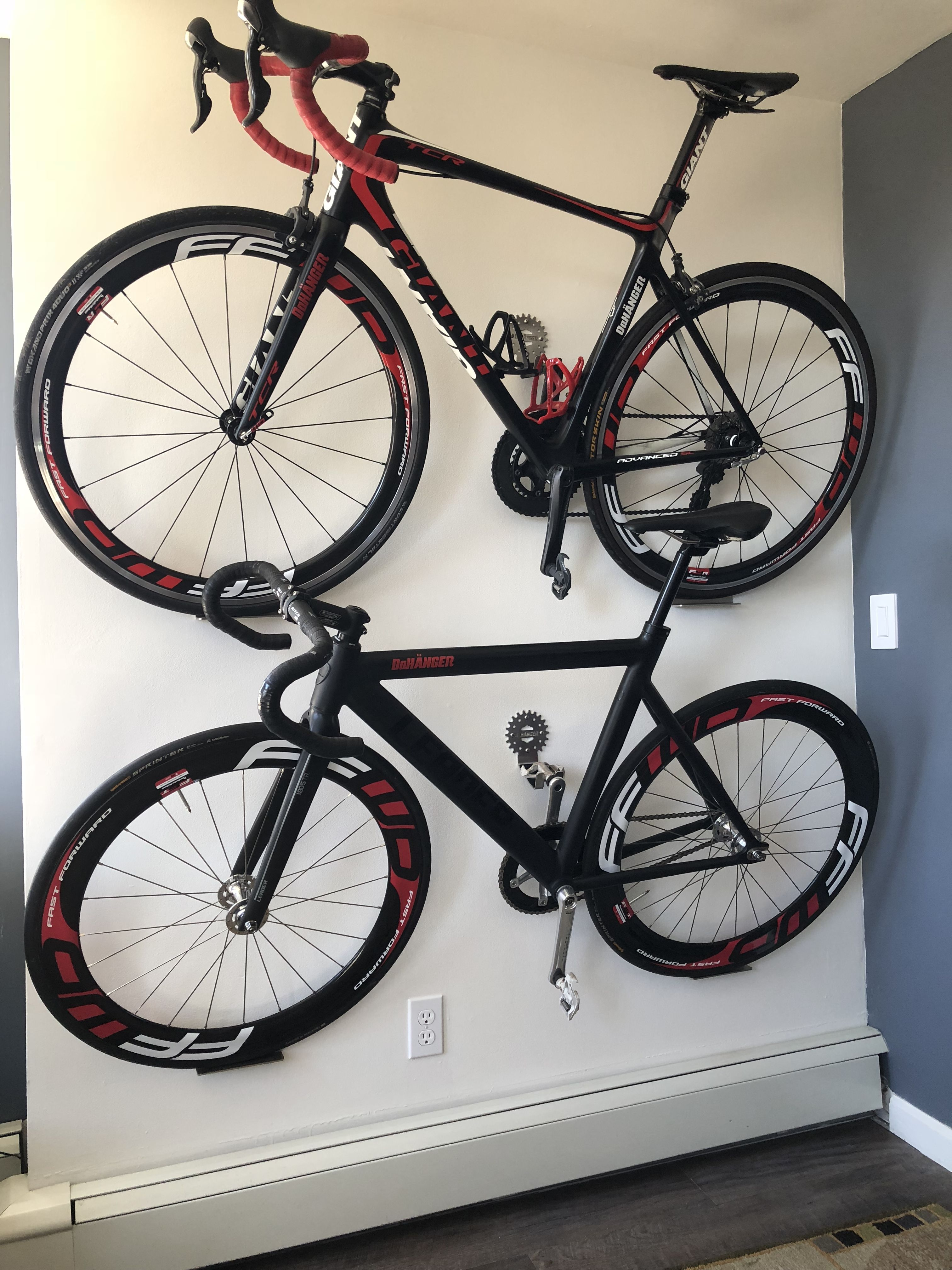 Display Bicycle Storage Hooks Wall Mount Bike Cycle Hanger Metal Black