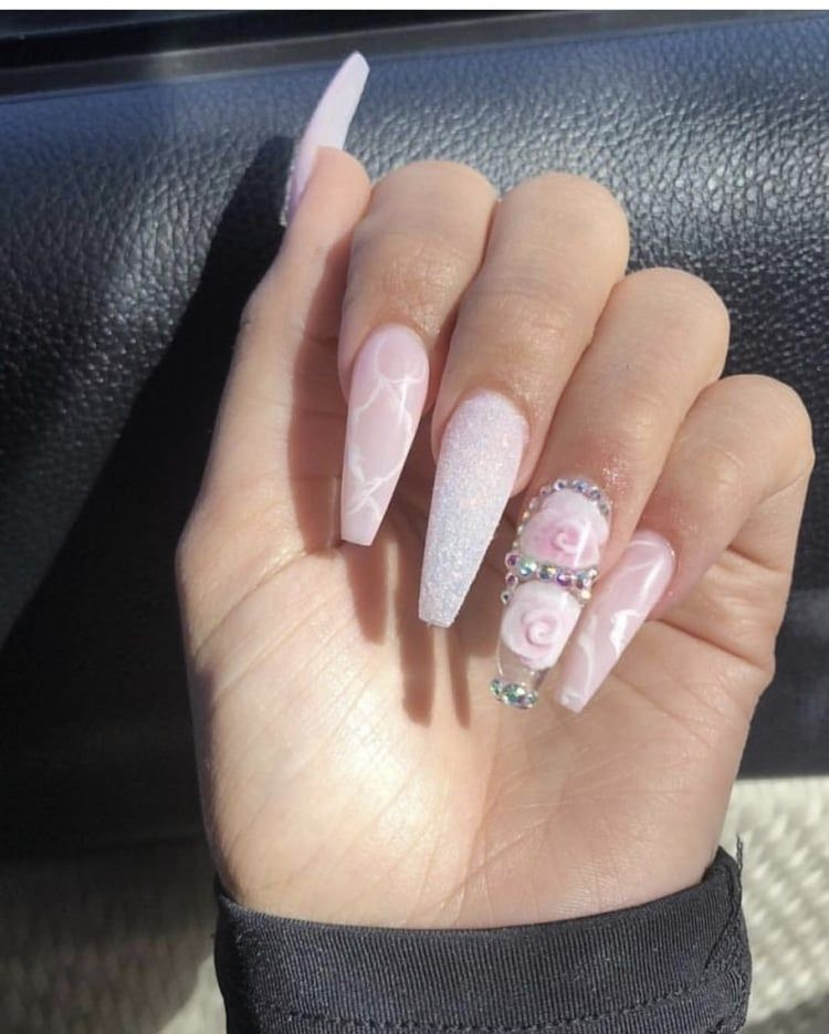 62 Best Acrylic Coffin Nails Ideas In 2019 Coffin Nails Long Acrylic Nail Designs Coffin Nails Designs