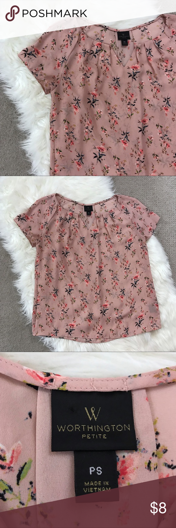 Petite floral blouse in my posh closet pinterest floral