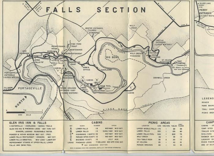 Old Letchworth State Park Map Another Map For Possible Inspiration