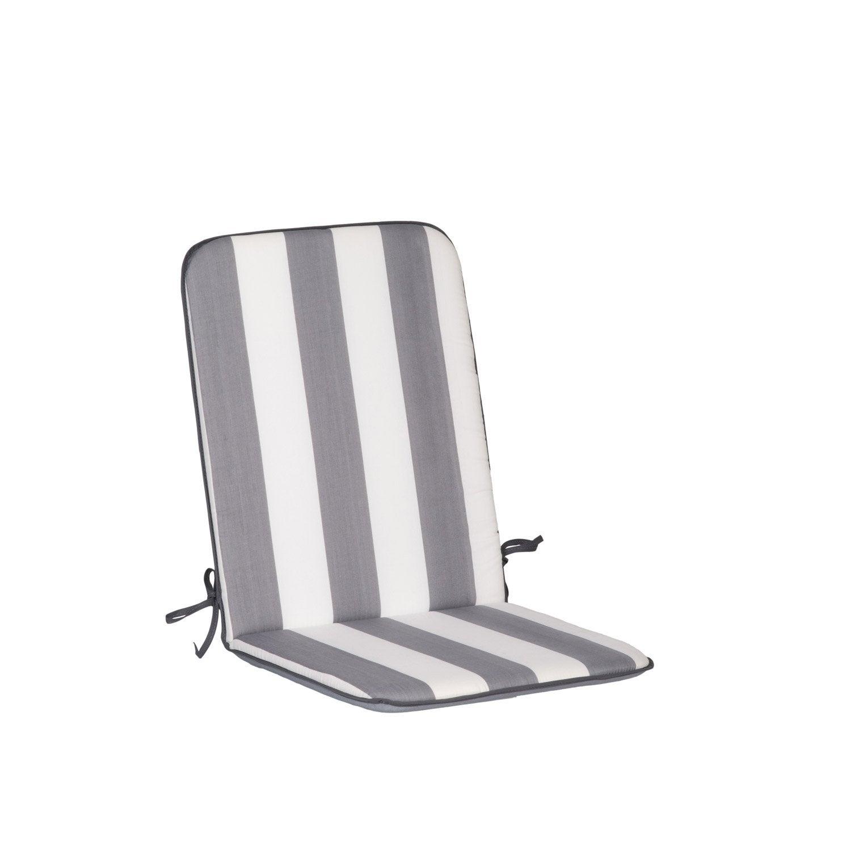 Coussin D Assise De Chaise Ou De Fauteuil Blanc Gris