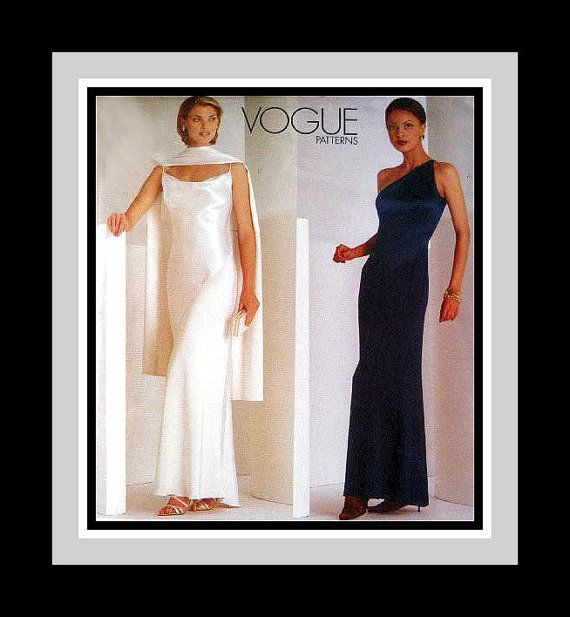 MODERN DECO- Bias Cut Evening Gown -Vogue Designer Sewing Pattern ...