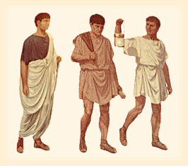 Sometimes a man would wear only the himation, without the chiton ...