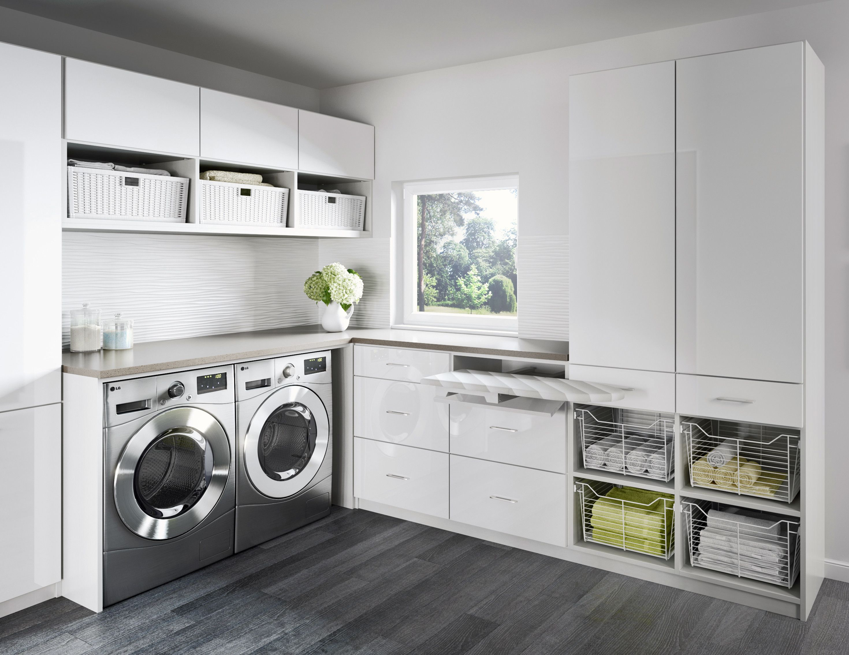 Laundry Room Cabinets Storage Ideas Modern Laundry Rooms