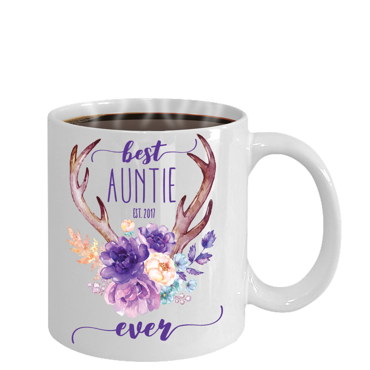 Best Auntie Ever Coffee Mug (Customizable/Personalized