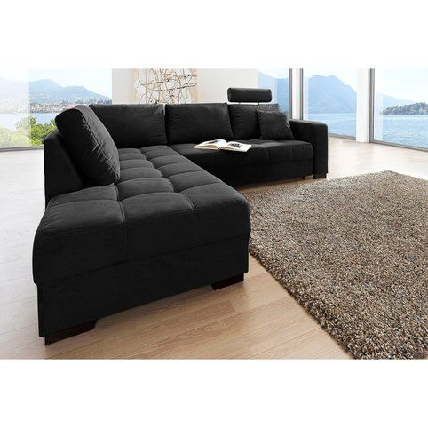 canap d 39 angle r versible et convertible en microfibre. Black Bedroom Furniture Sets. Home Design Ideas