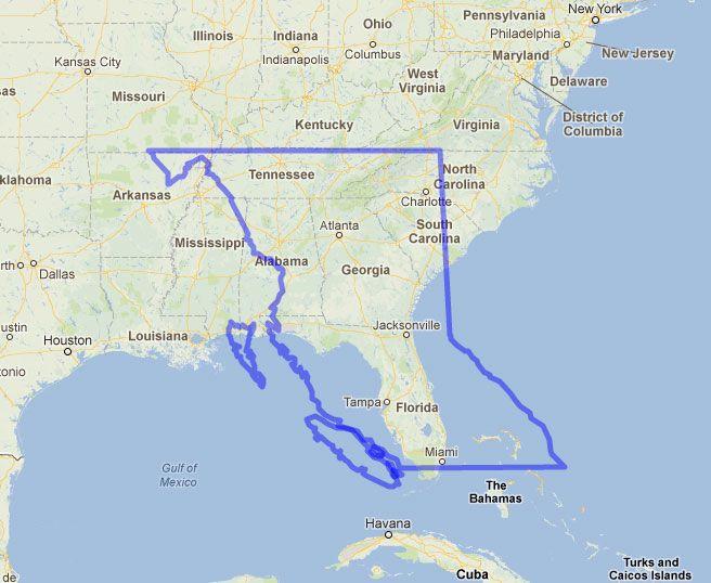 Florida Geography Map.Comparison Map Of British Columbia Vs Florida Canada British