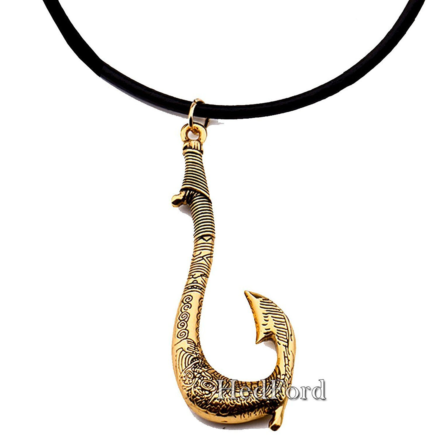 Moana maui 39 s magical fish hook necklace maui necklace for Magical fish hook