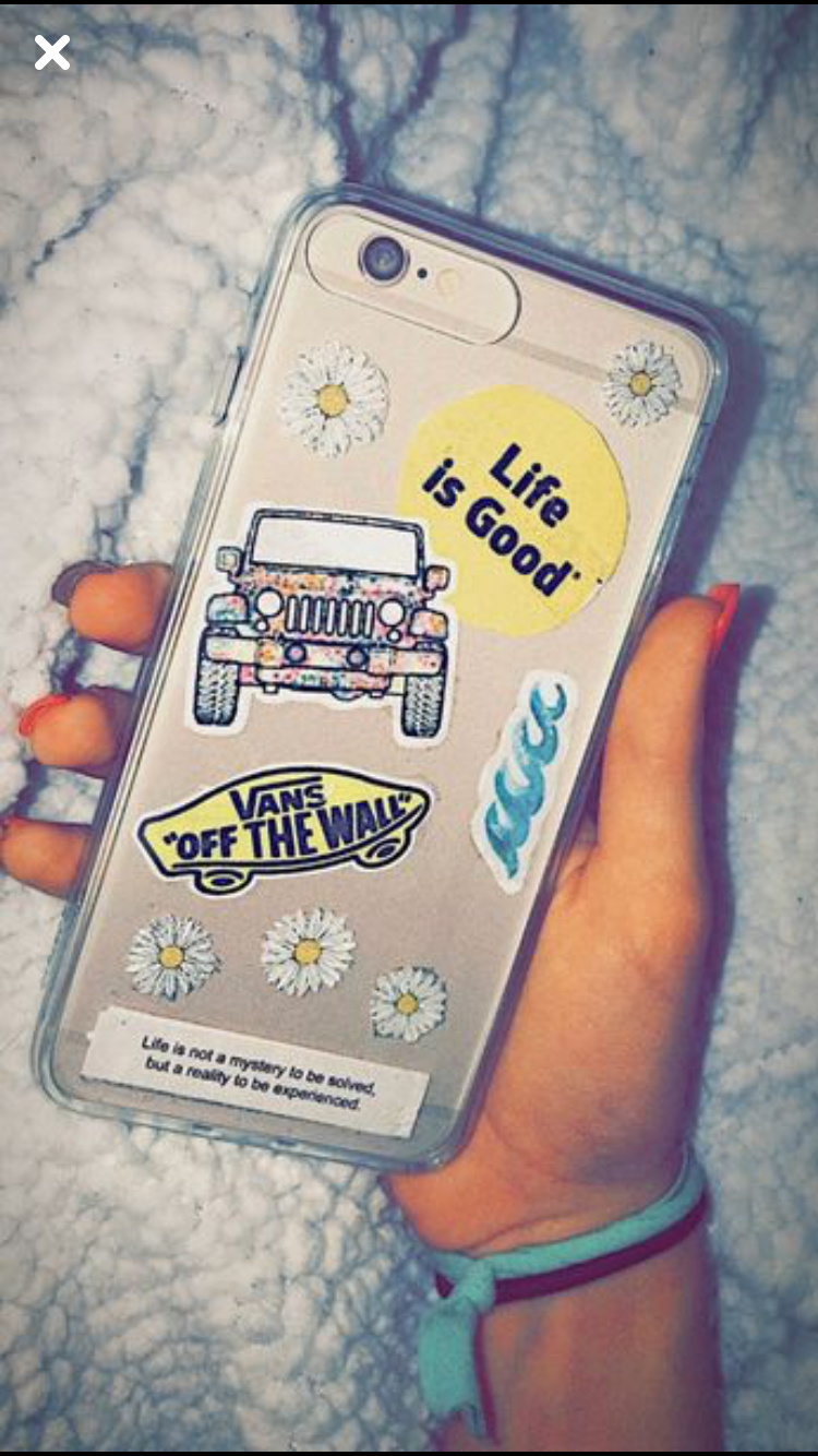 Phone case aesthetic stickers😍🌼 | Diy telefoonhoesjes ...