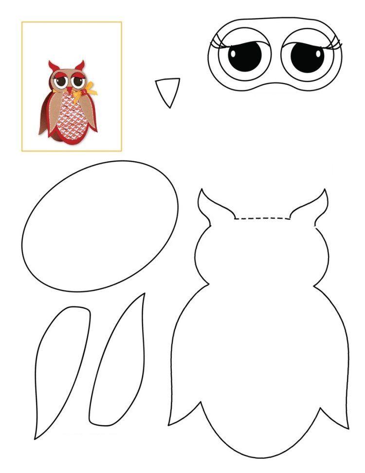 Dessin Hibou à Imprimer Et Bricolage Chouette Pour Enfants