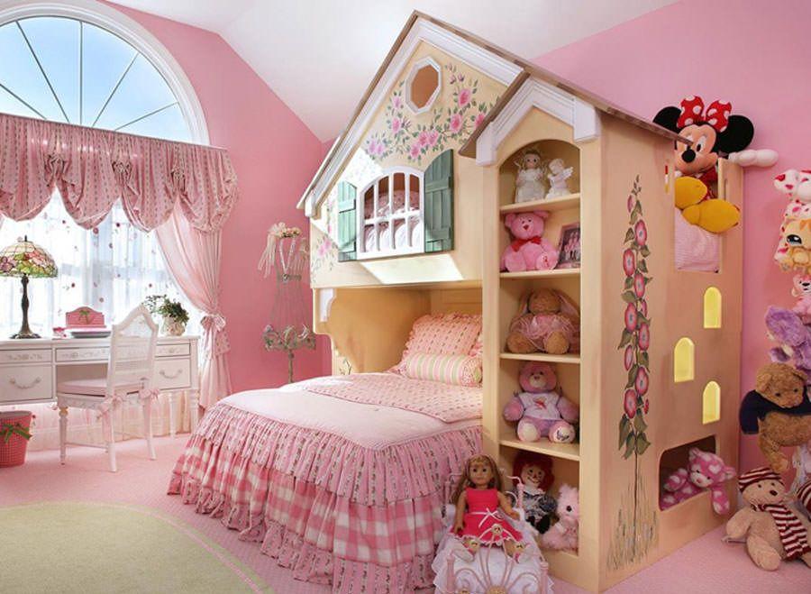 Meravigliose camerette da principessa disney per bambine idee