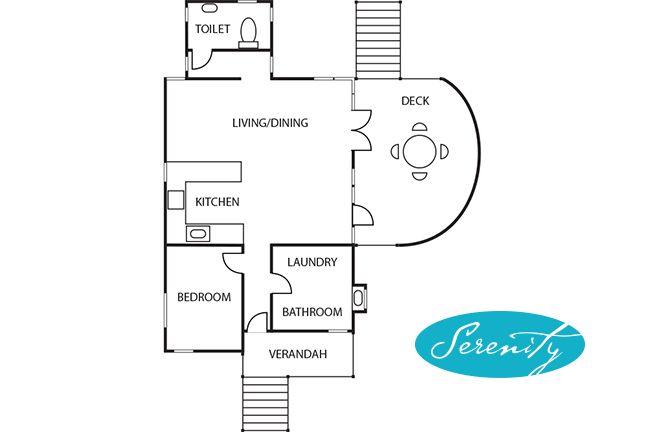 Floor Plan  Serenitycottage Com Au  U202a  U200evivonnebay