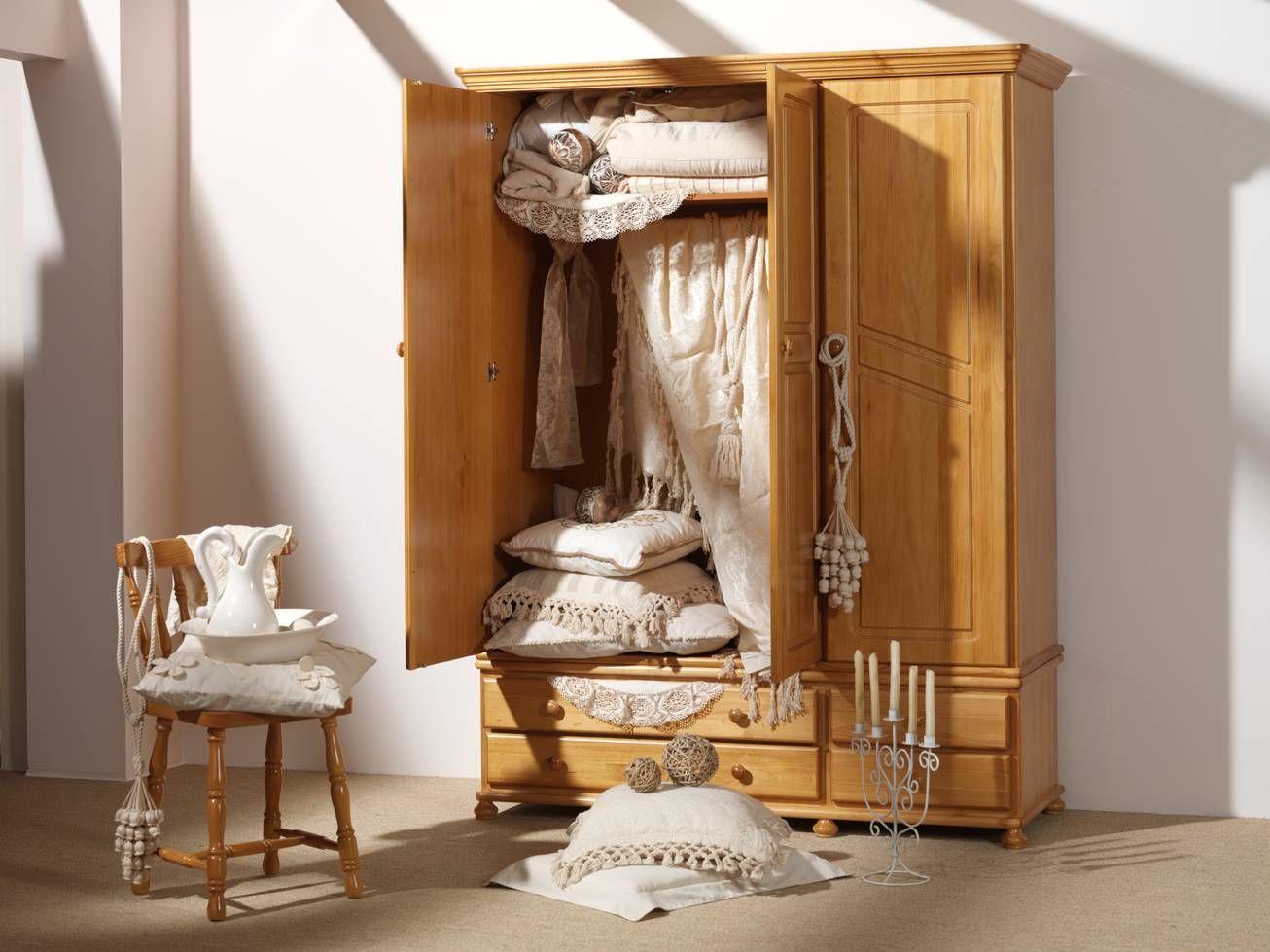 Armario 4 Puertas Provenzal Dormitorios Provenzal Pino Online  # Muebles Todo Pino