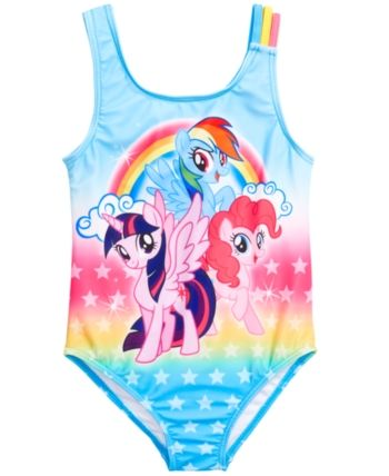 4cad268707 Dreamwave Little Girls 1-Pc. My Little Pony Graphic Swimsuit - Multi 5/6