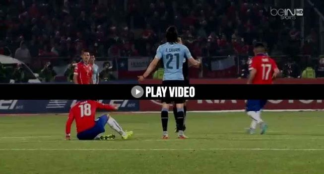 Jara oo laga mamnuucay Copa America kadib markii fal uu sameeyey sababay casaan la siiyo Cavani (video)