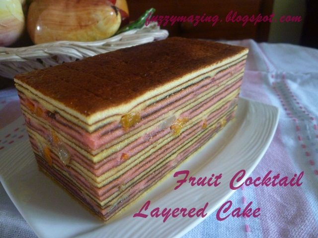 Bittersweetspicy Fruit Cocktail Layered Cake Cake Fruit Cocktails Layered Cake