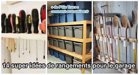 14 Super Idées de Rangement Pour le Garage 14, Places and Garage