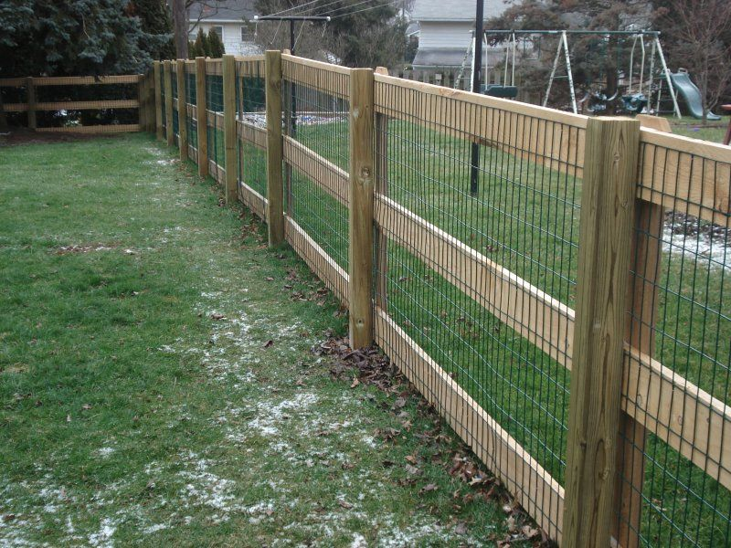 wood and wire fences | Residential Cedar and Wood Fences: A.K.A. The ...