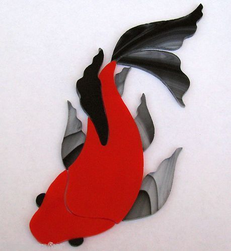 Butterfly koi fish stained glass pre-cut inlay. Great for mosaic projects. Selling on eBay or contact me directly rachellkratzer@aol.com