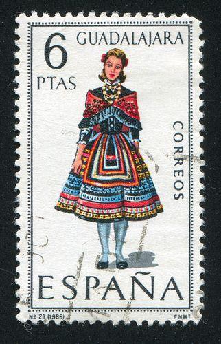 Spain Stamp 1968 - Regional costume Guadalajara