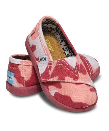 c27f7633dbc Take a look at this Pink Camo Vegan Classics - Tiny by TOMS on  zulily today !