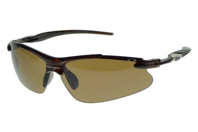 Wholesale Cheap Oakley Half Jacket Sunglasses Black Frame Brown Lens#Oakley Sunglasses