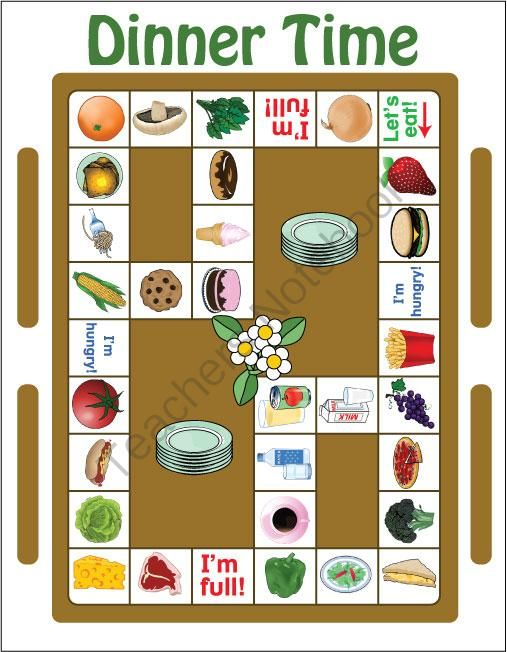 Classroom Game Ideas ~ Esl games food game pack from classroom on
