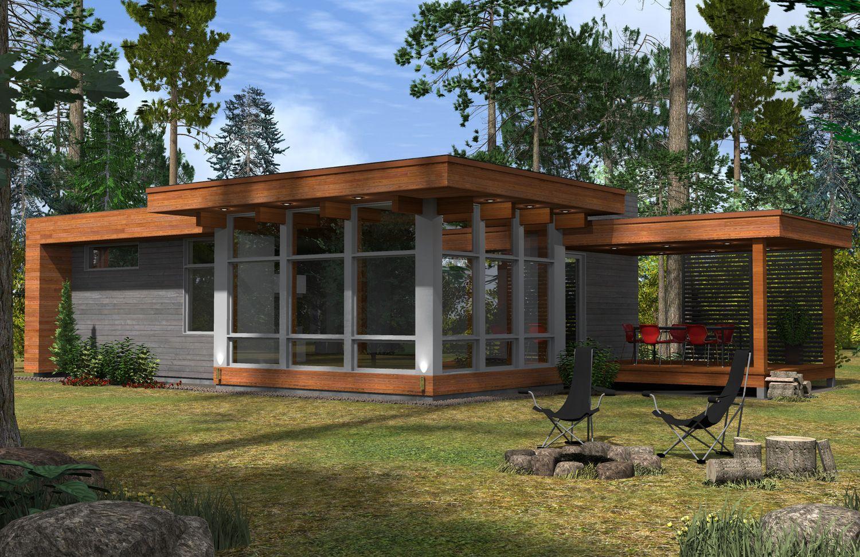 Pingl par habitation kyo sur maison mod le ek pinterest for Modele maison passive