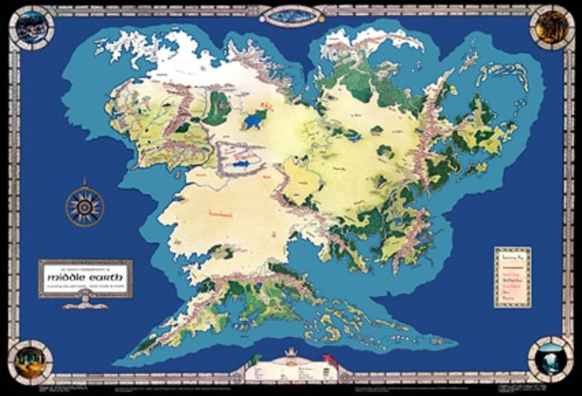 MERP Map of Endor (the Continent of Middle earth, not the Moon