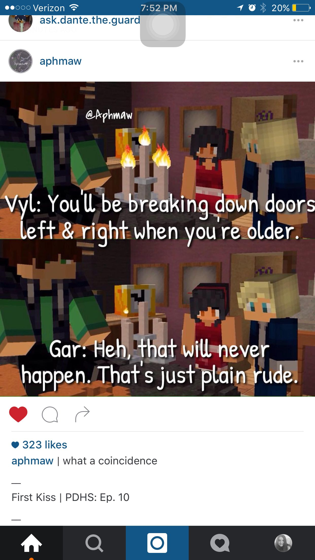 Yeah Says The Guy Who Breaks Down Doors Left And Right When He S Older Aphmau Aphmau Memes Aphmau Pictures
