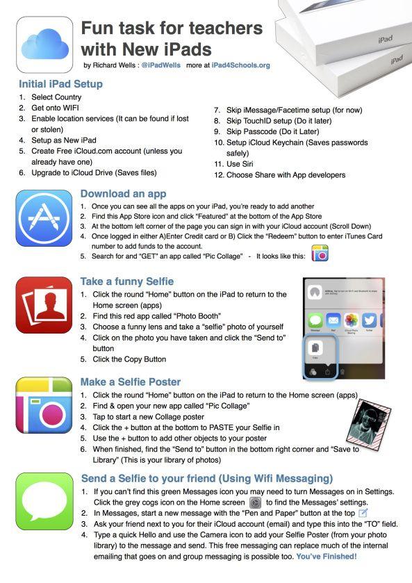 iPads for Teachers - The unboxing handout -by @iPadWells Eduwells